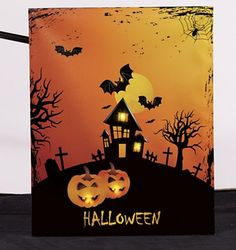 Haunted House Light-Up Canvas Art