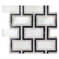 Aquila Carrara Marble Inserto 12 x 12 in.