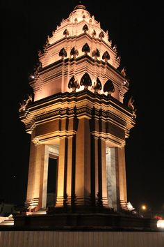 The Independence Monument in Phnom Penh Cambodia.