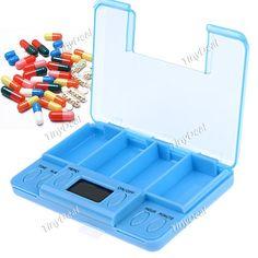 Multi-alarm Pills Reminder Box Medicine Case Timer for Family Use HLI-130546