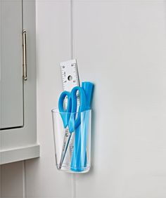 Fabulous HOMCLR Command TM Clear Small Caddy with Clear Strips