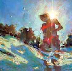 Michele Poirier Mozzone – From Below The Surface - on How to Pastel Soft Pastel Art, Chalk Pastel Art, Pastel Artwork, Oil Pastel Paintings, Pastel Drawing, Painting & Drawing, Horse Paintings, Underwater Painting, Aesthetic Painting