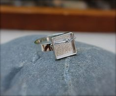 New! Sterling silver shadow box ring wire with by @KittyStoykovich, $48.00 #madcap