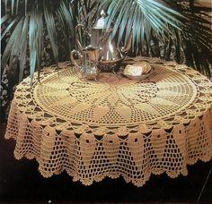 toalha de mesa crochê