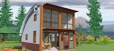 The Mini Q Cabin Kit---THE Q CABIN KITS BY DESIGN HORIZONS earth-friendly, pre-fabricated, cabin kits http://theqcabin.com/