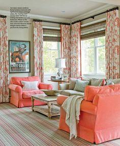 Curtains  Coral  Love