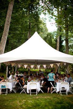 DIY Backyard Wedding reception decor