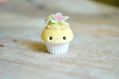 Kawaii Succulent Cupcake - Charm, Polymer Clay Charm, Jewelry, Food Jewelry, Succulent, Plant, Cupcake, Pink, Kawaii, Kawaii Charm, Cute