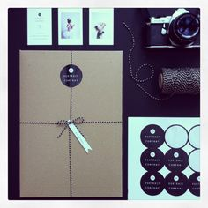 Photography branding, brown envelopes and twine