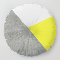 20% OFF ALL PILLOWS! Concrete vs Corn Yellow Floor Pillow by ARTbyJWP via Society6 #floorpillow #homedecor #decoration #cushion #pillows #shop #shopping - Our Floor Pillows are the cushiest cushions ever crafted. Made with 100% polyester for a soft touch, and overstuffed with firm-yet-plush fill so they never lose shape. Features a bar tack center stitch for an aesthetic dimple - and to prevent rips. Spot clean with warm water and mild detergent. Big Pillows, Floor Pillows, Cushions, Bean Bag Chair, Living Room Decor, Concrete, Sewing Projects, Plush
