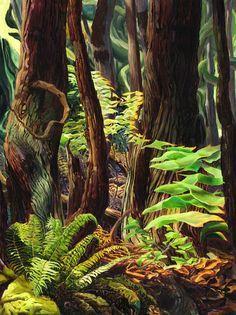 Drew Burnham at Bau-xi Gallery Landscape Art Quilts, Watercolor Landscape, Landscape Paintings, Top Paintings, Watercolour, Landscapes, Painting Inspiration, Art Inspo, Forest Illustration