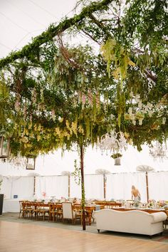 Incredible Ceiling #Canopy INSIDE the tent! Event Planning by #ColinCowie | Tory Williams Photography | See more on #SMP Weddings -  http://www.stylemepretty.com/2014/01/09/colin-cowie-wedding-in-buttermilk-falls/