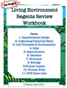 Living environment regents review packets editable bundle living living environment regents review workbook editable with answers fandeluxe Choice Image
