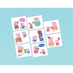 Peppa Pig Tattoos 16ct