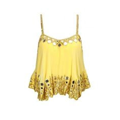 Pernia's Pop-Up Shop (21,950 INR) ❤ liked on Polyvore featuring yellow camisole and yellow cami