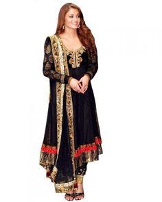 Bollywood Salwar Suits|Kameez|Aishwarya Rai Dress|Madhuri suit|Kareena kapoor - Mesmerizing Ashwarya Rai Black Circle - Online women clothing