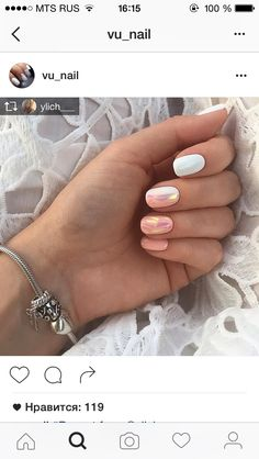 84 Simple Summer Nail Designs Nail Colors For 2019 - Summer Ideas Love Nails, Pink Nails, My Nails, Bright Summer Nails, White Summer Nails, White Nails, Colorful Nail Designs, Nagel Gel, Creative Nails