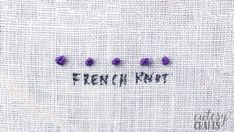 If you've always wanted to learn embroidery stitches, here's the perfect guide for you. I have a video tutorial for each embroidery stitch. French Knot Embroidery, Embroidery Stitches Tutorial, Embroidery Sampler, Simple Embroidery, Learn Embroidery, Embroidery For Beginners, Hand Embroidery Designs, Ribbon Embroidery, Embroidery Patterns