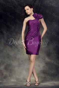 Fancy Sheath One-shoulder  short Prom Cocktail Dress US$ 83.59