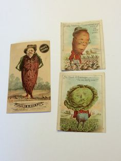 Victorian Trade Cards Rice's Seeds by sweetserendipityvint on Etsy