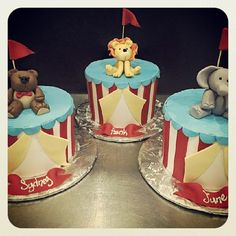 https://flic.kr/p/wfs7rj | Circus animals and cakes for triplets!!!