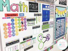 And it's finished! Math Talk is my fav time of day! What is your favorite subject to teach? 2nd Grade Classroom, 1st Grade Math, Math Classroom, Classroom Ideas, Grade 1, Future Classroom, Classroom Organization, Kindergarten Calendar Math, Classroom Calendar
