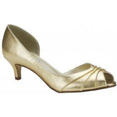 Touch Ups Abby 839 Gold Bridesmaid or Party Shoes