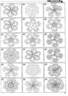 Beautiful and more crochet pattern ~ make handmade - handmade - handicraft Crochet Diy, Crochet Tutorial, Crochet Motifs, Crochet Diagram, Crochet Chart, Crochet Squares, Thread Crochet, Love Crochet, Irish Crochet