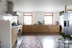 Kuchnia z betonową posadzką