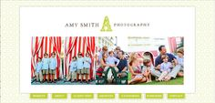 I just LOVE Amy Smith Photography! I love the light, airy feel of her blog. Pattern is great.