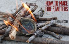 Camping tips - How to make egg carton fire starters