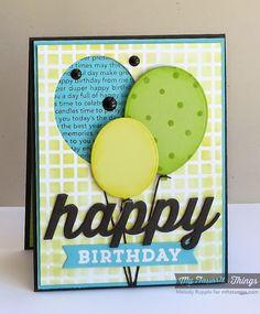 Celebrate You, Confetti Background, Happy Birthday Background, Balloon STAX Die-namics, Happy Die-namics, Sentiment Strips 2 Die-namics, Grid Stencil - Melody Rupple #mftstamps