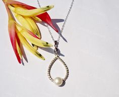 Pear Shape Pearl Necklace pearl jewelry teen by SaruchiRJewellery