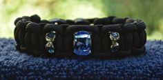 Black Beaded Paracord Bracelet  Size Size 6.5 by RainyDayzArt, $12.50 https://www.etsy.com/listing/190927405/black-beaded-paracord-bracelet-size-size?ref=listing-shop-header-2