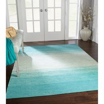 Home Trends Area Rug 4 Ft. 11 In. X 6 Ft. 9 In. Turquoise Ombre