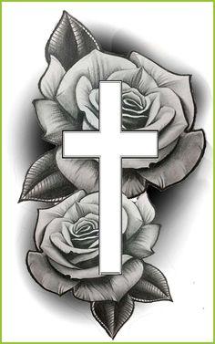 cruz e rosas-  #Cruz #delicateTattooFont... - #Cruz #delicateTattooFont #rosas  Source by donnamoore3525
