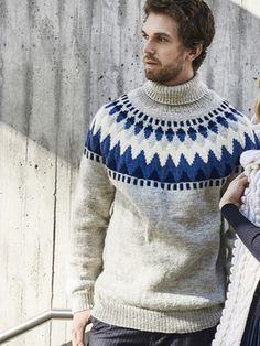Miehen kaarrokeneulepusero Novita 7 Veljestä | Novita knits