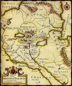 Map of Ancient Armenia, Babylonia &  Mesopotamia- for my modge podge table…