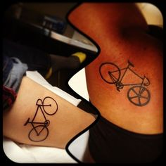 fixie bicycle tattoos