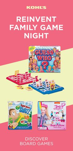 Load up your game cabinet with these fresh finds from Kohl's. From classic board games to brainteasers to puzzles, there's something that will keep the whole family entertained. Dance Games, Fun Games, Games For Kids, Family Game Night, Family Games, Classic Board Games, Best Kids Toys, Sight Word Games, Top Toys