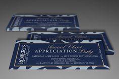 Roberts Wealth Client Appreciation Ticket Design by AlphaGraphics Sugar Land
