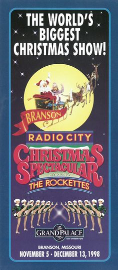 The Radio City Christmas Spectacular starring the Rockettes at The Grand Palace in Branson, Missouri.