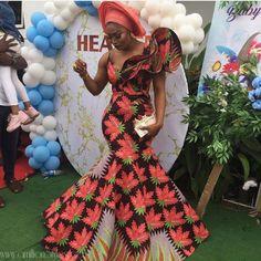 nigerian dress styles Turn Heads With These Stunning Ankara Styles (Photos) ShowcaseCityOnline African Party Dresses, African Wedding Attire, African Print Dresses, African Dress, African Wear, African Attire, African Fashion Ankara, African Inspired Fashion, Latest African Fashion Dresses