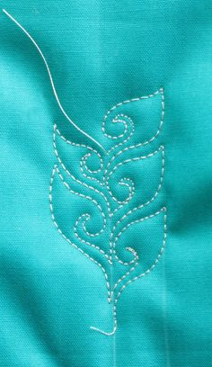 Open Leaf with Spiral Free Motion Quilting Tutorial