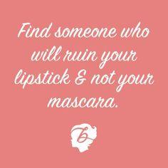 The lipstick/mascara test ... #coachbarn #quotes