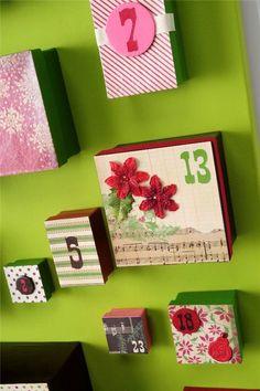 Big box DIY advent calendar