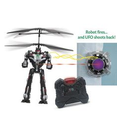 RC Robot vs UFO Epic Laser Battle - Toys, Games, Electronics & Crafts – Educational, Imaginative & Fun