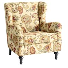Claudio Wing Chair - Jacobean Ochre (Accent chair for living room)