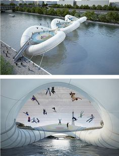 Trampoline bridge. I'd be the one person to fall off. WHY ARE WE NOT FUNDING THIS!?
