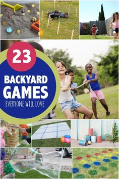 Back Yard Game Ideas....get outside and have fun, and connect with nature.